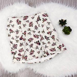 Brandy Melville Floral Velvet Skirt